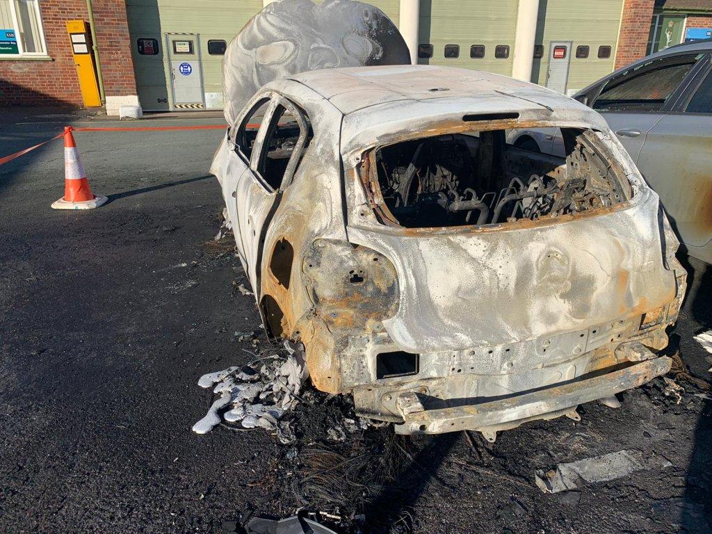 Car-fire-in-MOD-Stafford